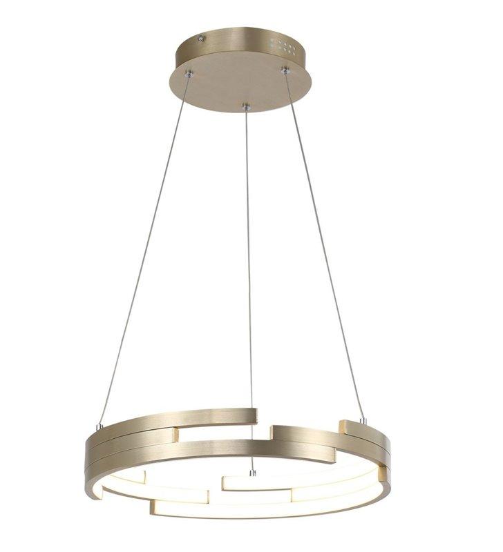 Lampa wisząca Velar LED obręcz złota średnica 40cm styl nowoczesny do jadalni sypialni kuchni salonu