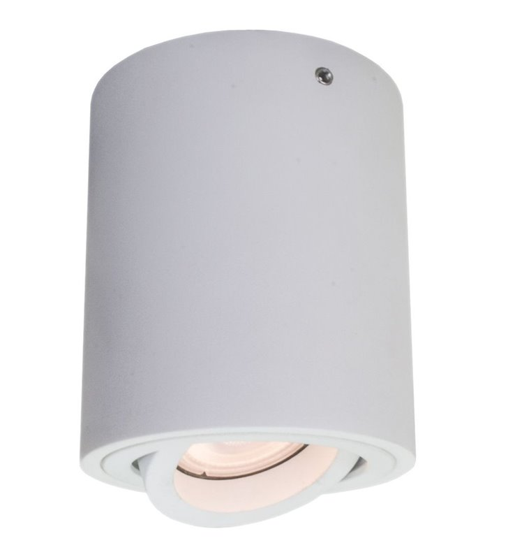 Lampa sufitowa typu downlight natynkowa Lucia walec ruchoma żarówka GU10