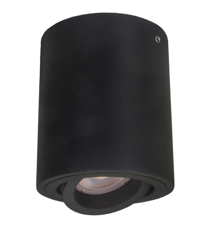 Lampa sufitowa Lucia czarna natynkowa downlight walec ruchoma żarówka GU10