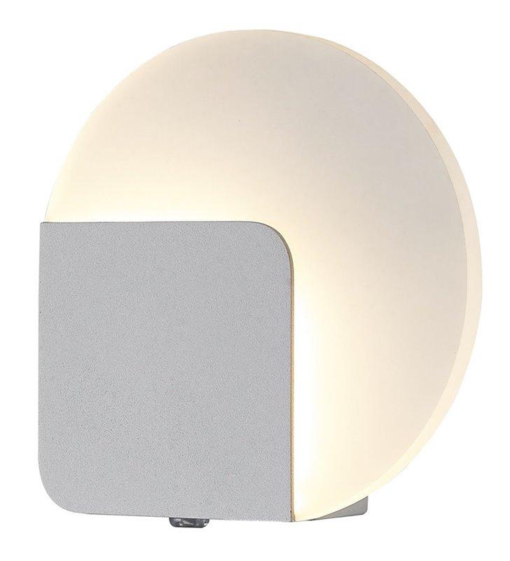Kinkiet Lorelei LED biały nowoczesny okrągły klosz 3000K