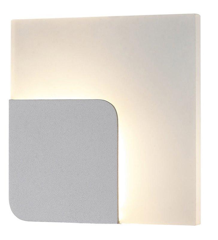 Nowoczesny kwadratowy kinkiet Lorelei LED biały