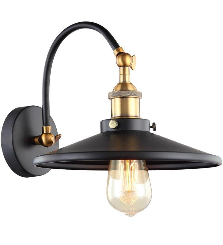 Kinkiet Verda czarny ze złotymi detalami styl retro