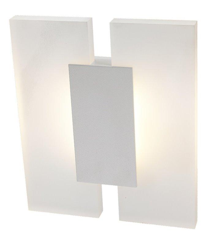 Nowoczesny biały kinkiet LEDowy Jacob