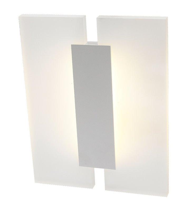 Nowoczesna biała LEDowa lampa ścienna Jacob