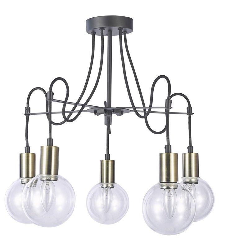 Żyrandol lampa sufitowa Gianni 5 punktowa styl loftowy industrialny
