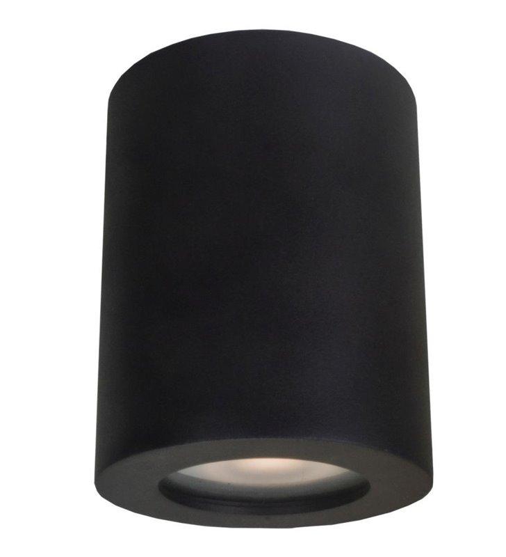 Czarna okrągła oprawa łazienkowa typy downlight Fausto IP44