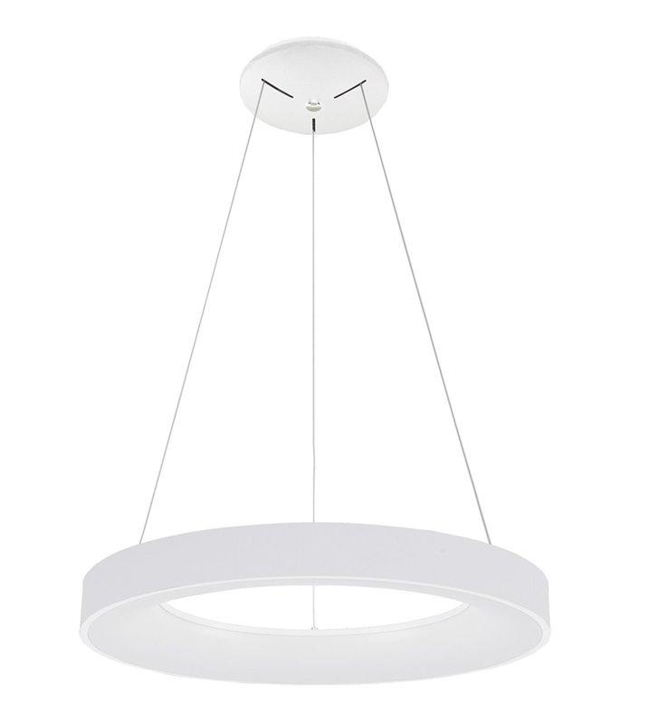 Duża lampa wisząca Giulia biała okrągła nowoczesna średnica 80cm
