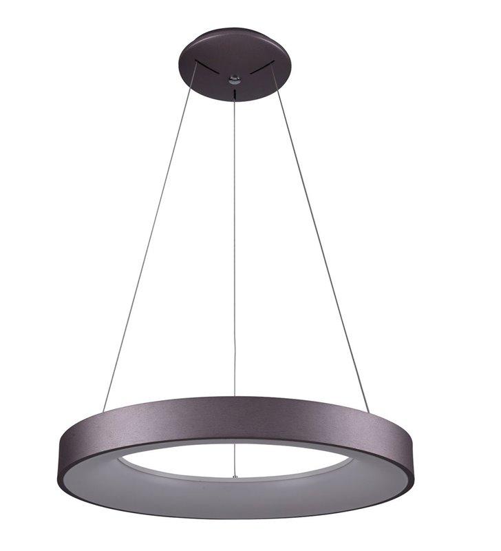 Lampa wisząca Giulia okrągła nowoczesna 60cm w kolorze kawowym ciemny brąz