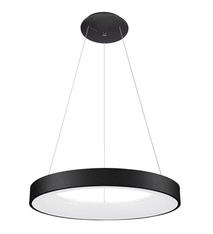 Czarna 60cm lampa wisząca Giulia okrągła nowoczesna do jadalni kuchni salonu sypialni