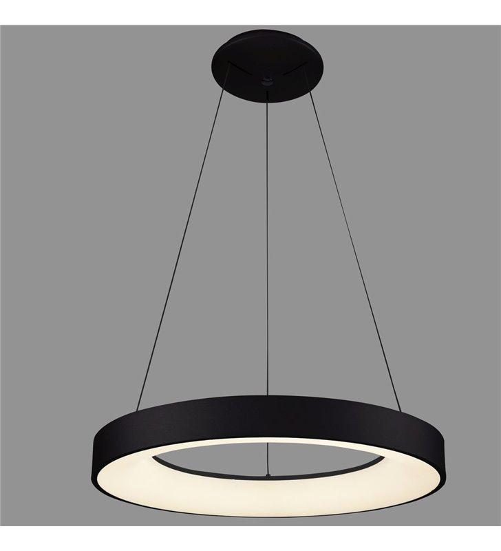Giulia czarna nowoczesna LEDowa lampa wisząca obręcz średnica 48cm