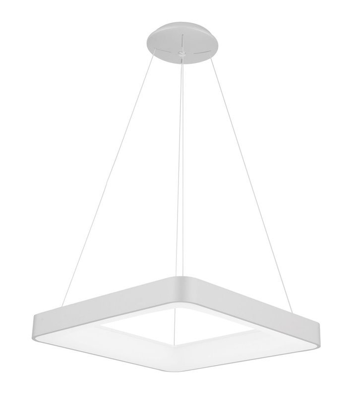 Lampa wisząca Giacinto biała kwadratowa nowoczesna