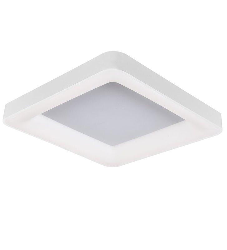 Duży biały kwadratowy nowoczesny plafon pokojowy Giacinto 60cm