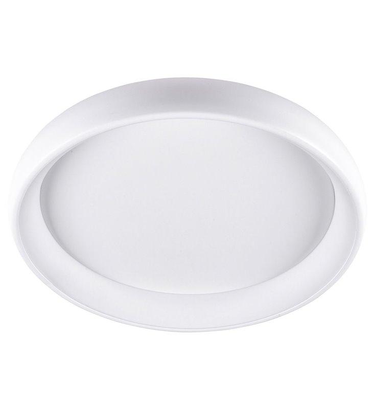 Biały nowoczesny plafon LED Alessia 41cm okrągły