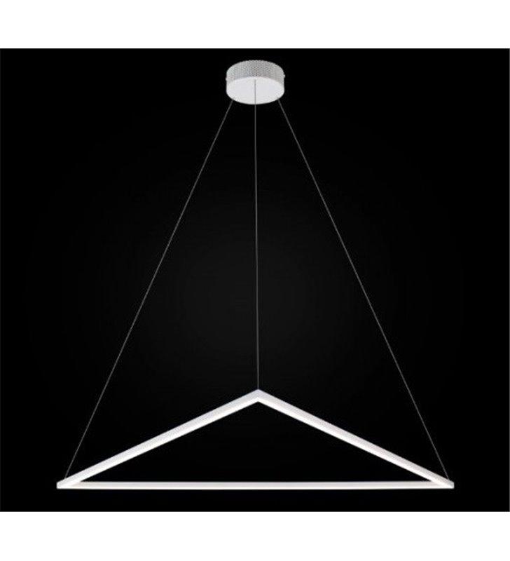 Trójkątna lampa wisząca Origami (K) biała duża nowoczesna