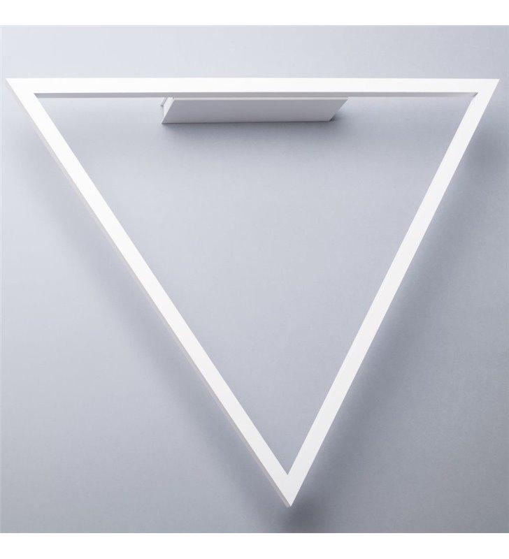 Trójkątny nowoczesny biały kinkiet LED Origami (k)