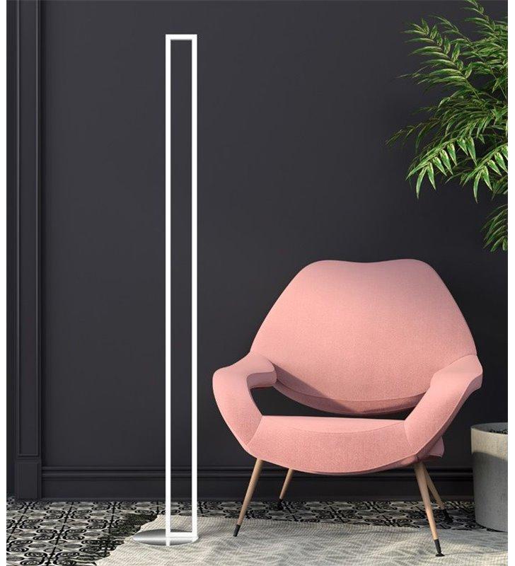 Lampa podłogowa Edo LED (K) biała prostokątna do pokoju lub biura nowoczesna