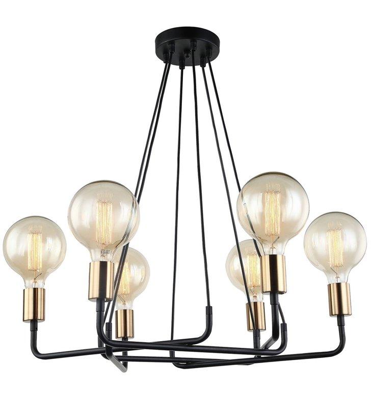 Żyrandol lampa wisząca Betty czarny nowoczesny do dekoracyjnych żarówek bez kloszy