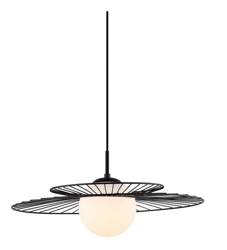 Nowoczesna czarna lampa wisząca Sarah o średnicy 50cm