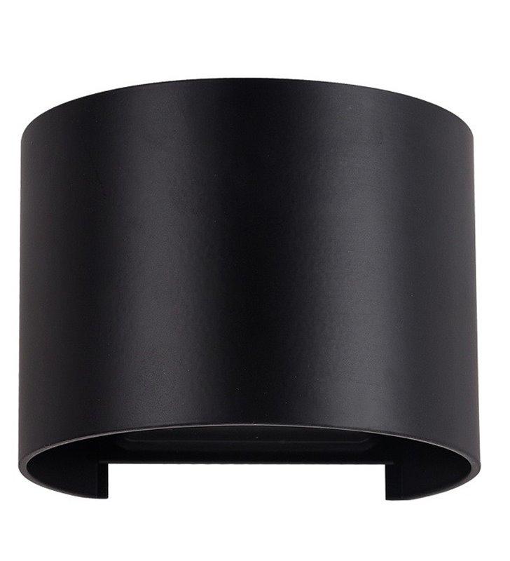 Nowoczesna czarna lampa ścienna do ogrodu Sorento
