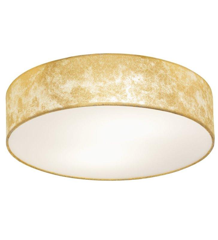 Plafon Viserbella 38cm okrągły złoty abażur z tkaniny