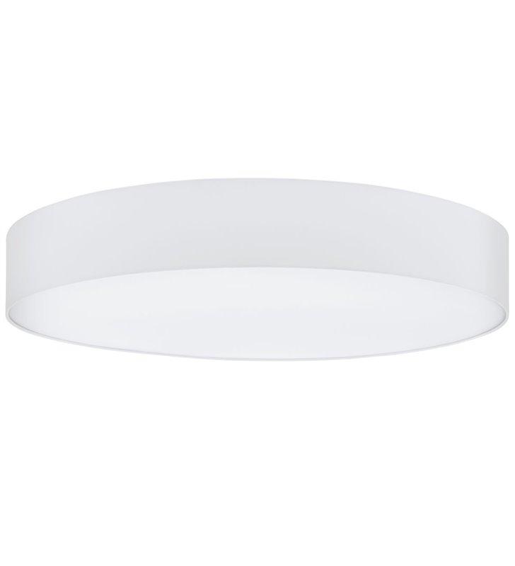 Biały materiałowy plafon wewnętrzny Pasteri 570 okrągły na 3 żarówki do salonu sypialni jadalni na przedpokój