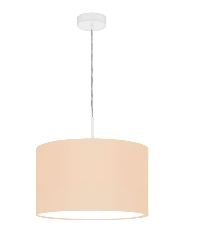 Lampa wisząca Pasteri-P pastelowa morelowa biała podsufitka 38cm średnicy