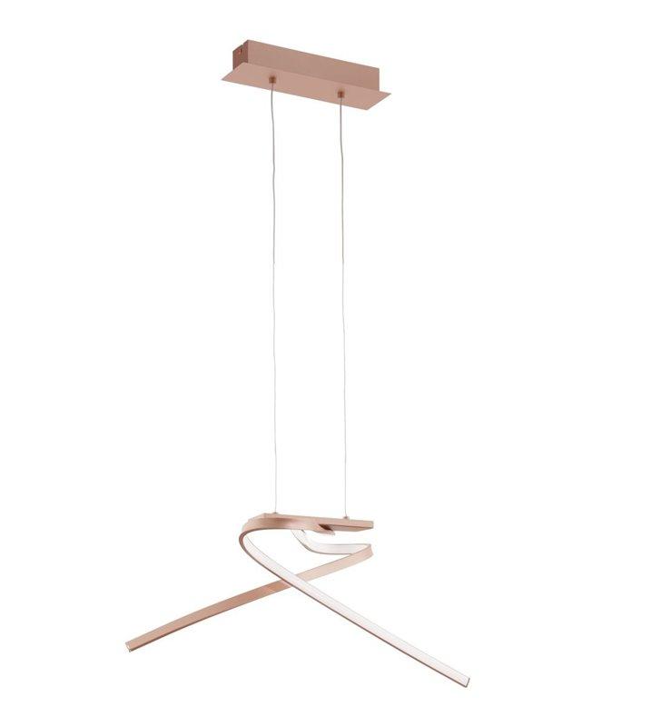 Lampa wisząca Palozza w kolorze różowego złota nowoczesna LED