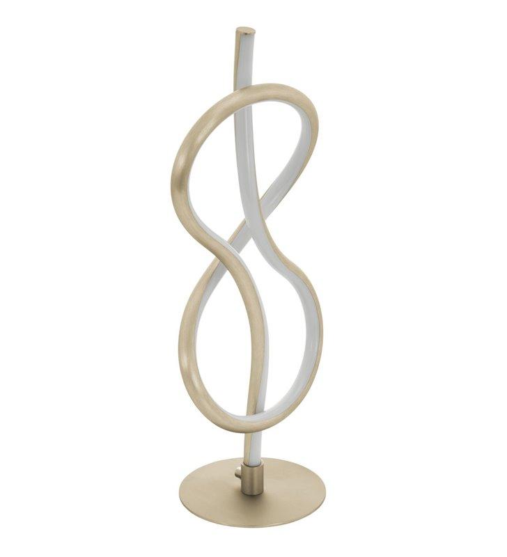 Nowoczesna zawijana lampa stołowa Novafeltria LED nikiel satynowany