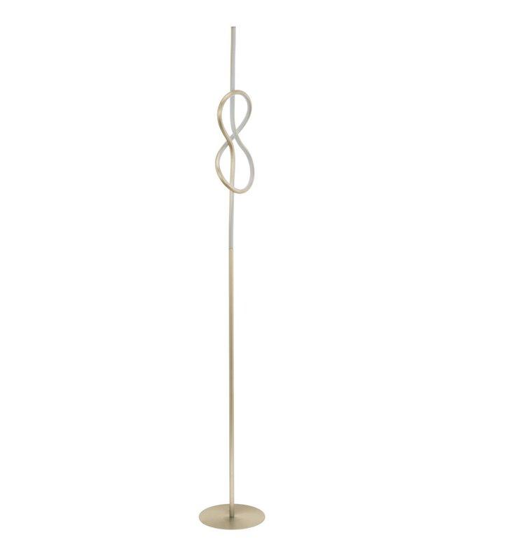 Lampa podłogowa w kolorze satynowanego niklu Novafeltria LED styl nowoczesny do salonu sypialni