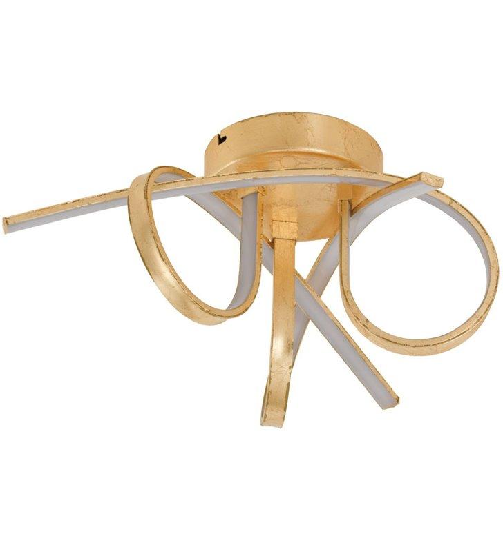 Lampa sufitowa Miraflores złota nowoczesna z zawijanymi ramionami