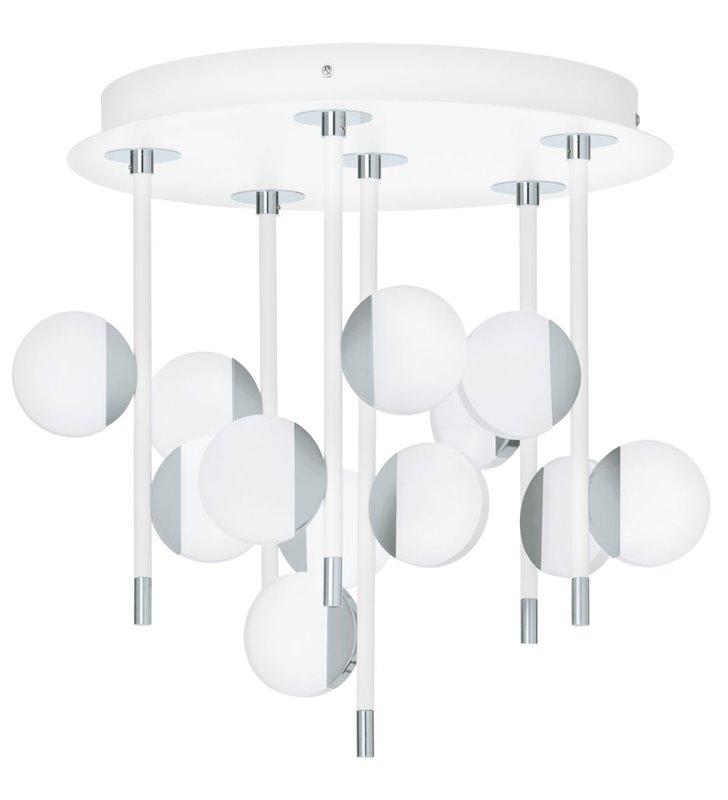 Lampa sufitowa Olindra biała wielopunktowa nowoczesna LED z możliwością ściemniania