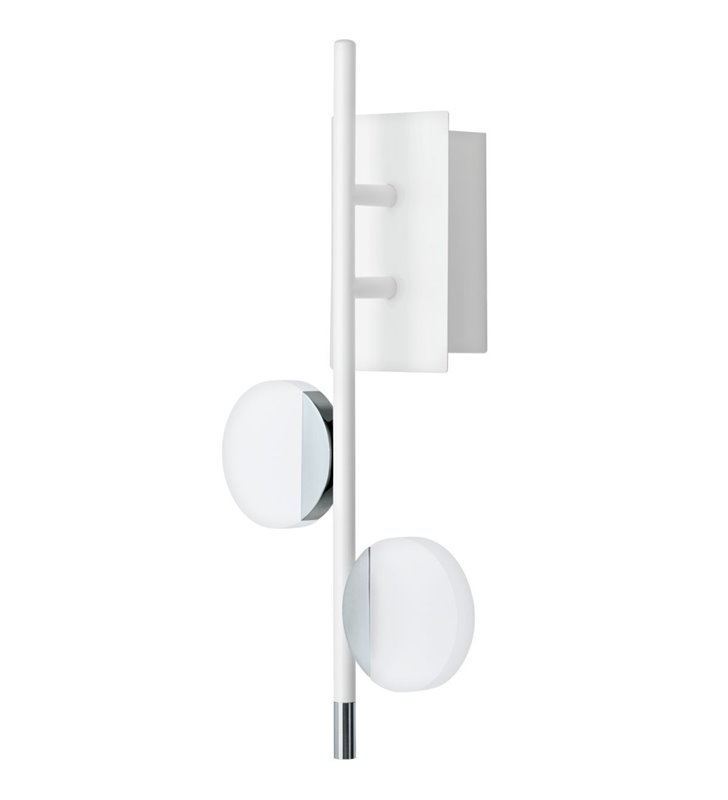 Nowoczesny biały kinkiet Olindra LED z możliwością ściemniania