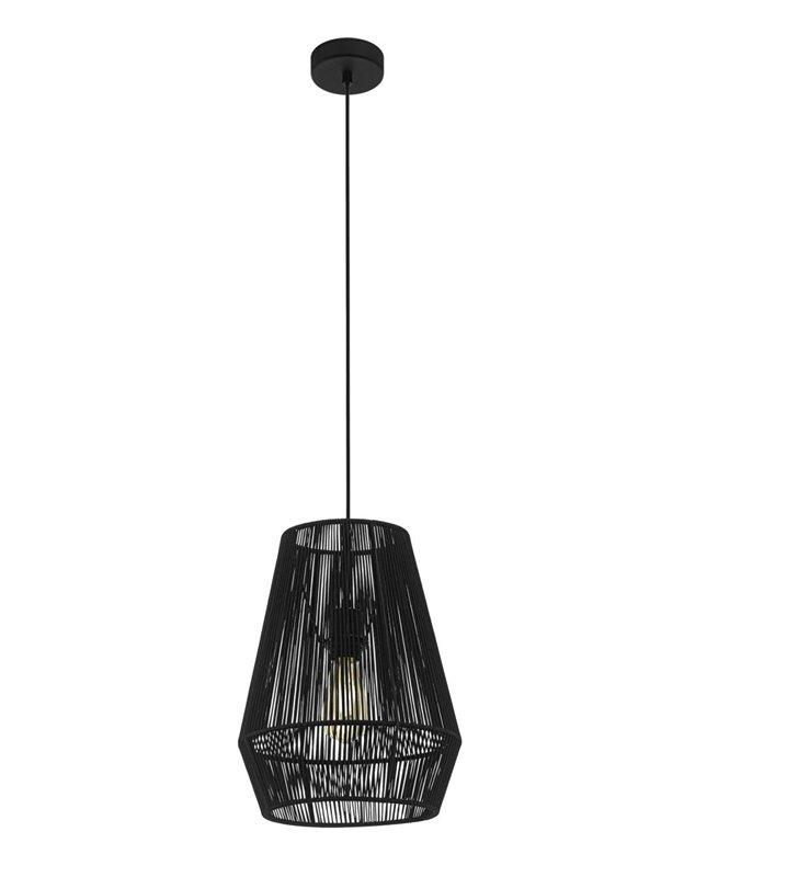 30cm czarna lampa wisząca Palmones do salonu sypialni jadalni