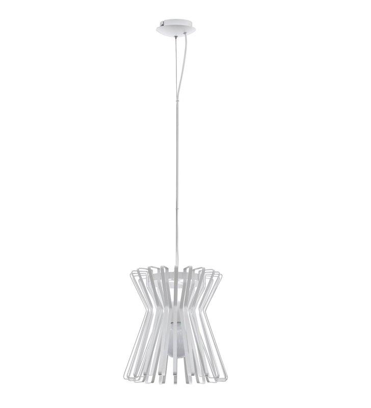Dekoracyjna lampa wisząca Locubin w kolorze białym z metalu nad stół do jadalni do kuchni salonu sypialni