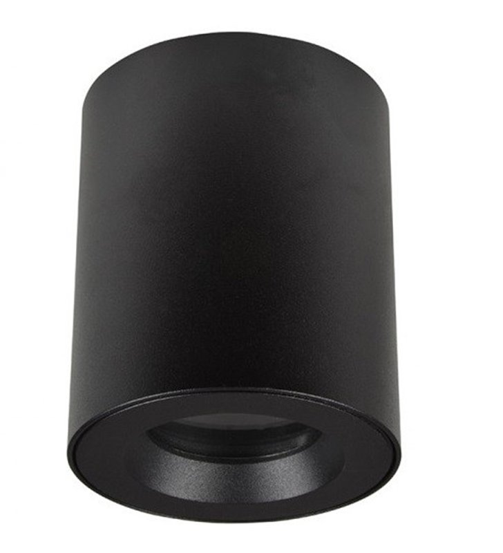 Czarna natynkowa lampa sufitowa typu downlight do łazienki IP54 Aro
