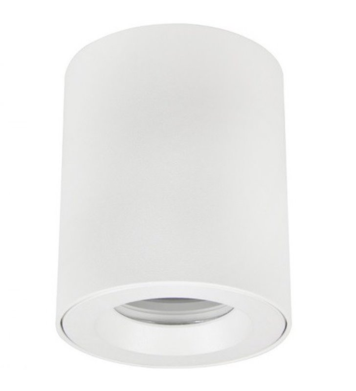 Biała łazienkowa lampa sufitowa typu downlight Aro IP54