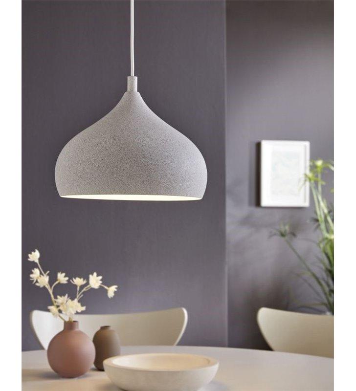 Ciemnoszara lampa wisząca wyglądająca jak z kamienia Campillos metalowa nowoczesna