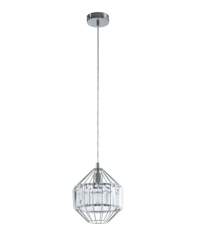 Lampa wisząca Pedrola metalowa konstrukcja z kryształową opaską dekoracyjna do salonu sypialni jadalni kuchni