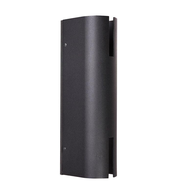 Czarny nowoczesny kinkiet ogrodowy Rovigo LED IP54