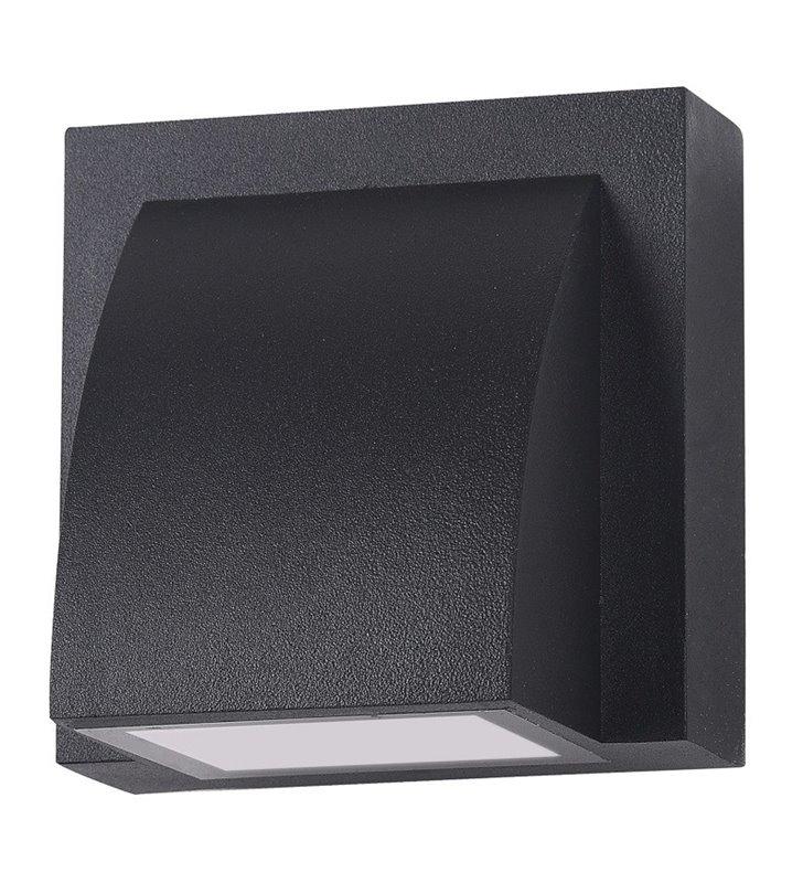 Kinkiet do ogrodu Edgar mały kwadratowy czarny nowoczesny strumień światła w dół jednokierunkowy