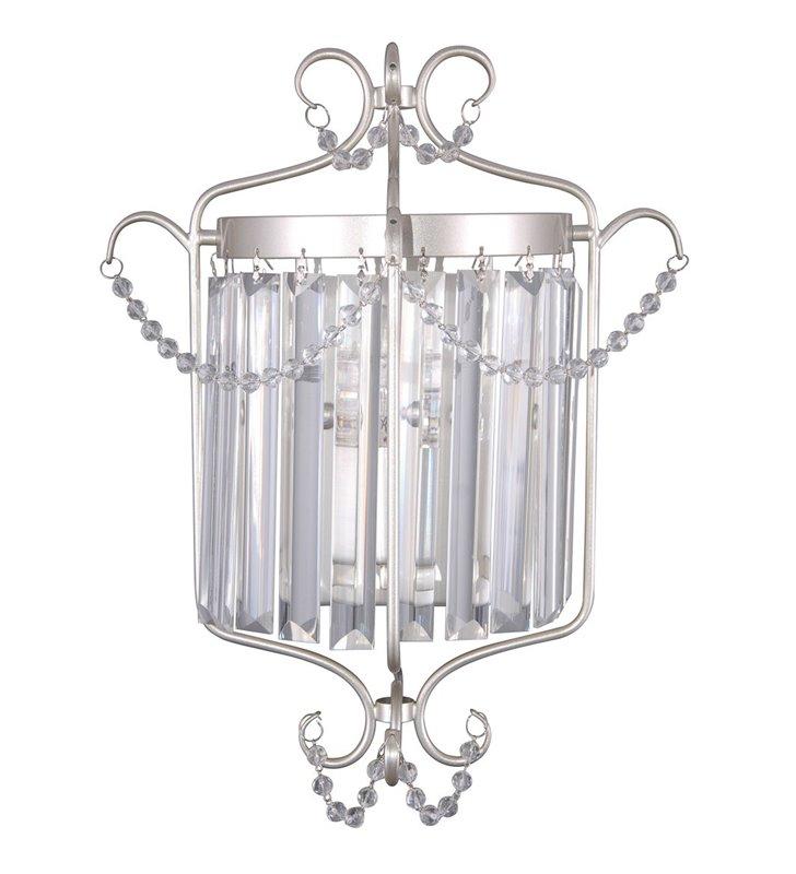 Klasyczny kinkiet kryształowy Rinaldo metal w kolorze szampana do salonu sypialni jadalni na przedpokój