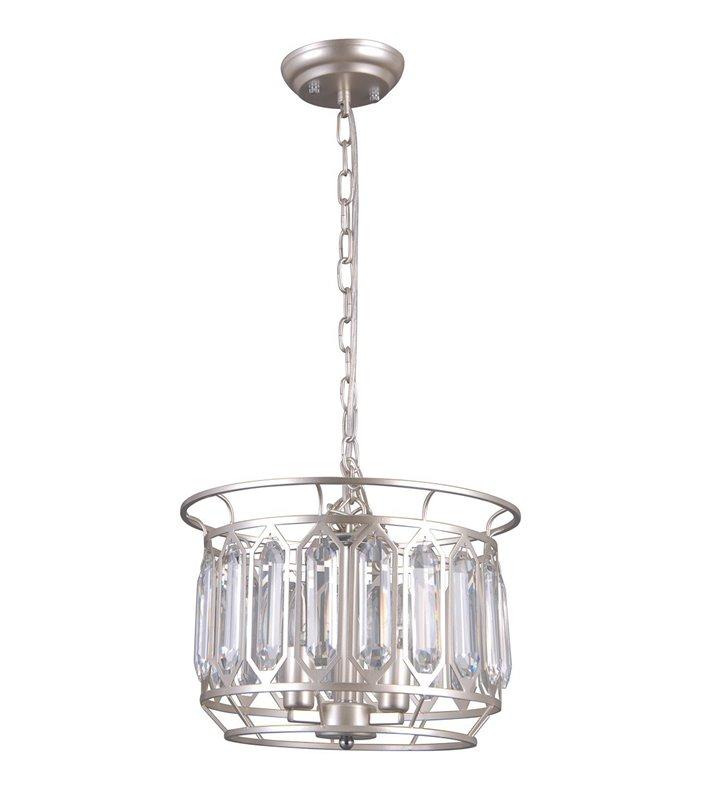 Lampa wisząca Priscilla z kryształami metal w kolorze szampana średnica 35cm do salonu sypialni jadalni nad stół