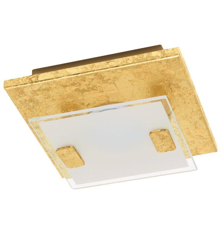 Mały złoty kwadratowy plafon Vicaro1 13,5cm