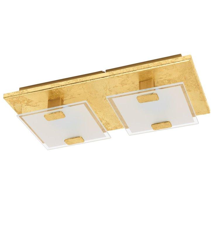 Mały złoty prostokątny plafon Vicaro1 montaż na ścianie i na suficie LED