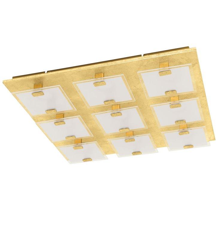 Złoty nowoczesny kwadratowy plafon na ścianę lub sufit Vicaro1 47cm 3000K do salonu sypialni na przedpokój