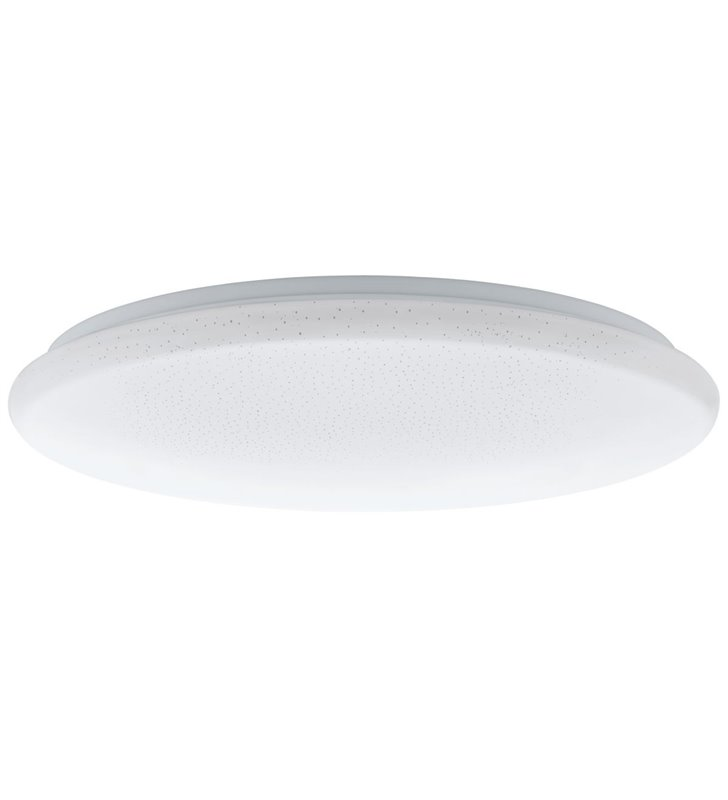Duży funkcyjny biały plafon Giron-S 76cm z efektem kryształowego blasku pilot ściemnialny tryb nocny zmiana barwy światła