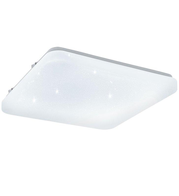 Kwadratowy plafon z efektem kryształowego blasku Frania-S 430mm ciepła barwa światła 3000K