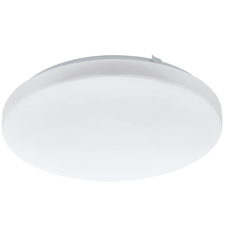 Okrągły biały plafon Frania 430  gładki bez wzorów z tworzywa LED 3000K