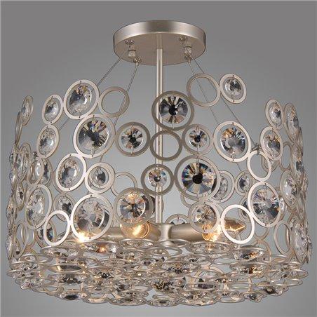 Nowoczesna ażurowa lampa z kryształami Nardo stelaż srebrny szampanski