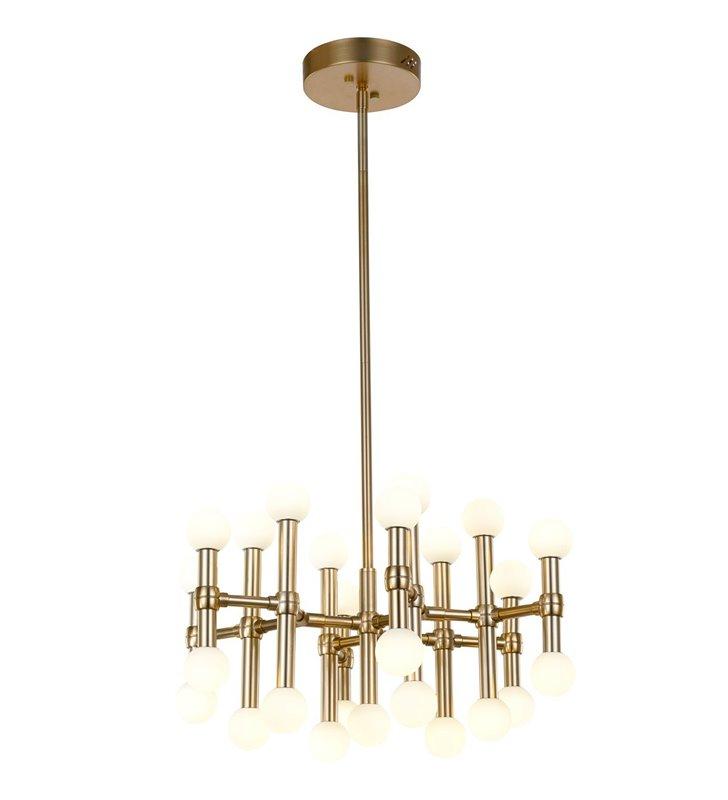Giovanna lampa wisząca na sztywnym zawieszeniu brąz vintage do salonu jadalni nad stół do wysokich pomieszczeń